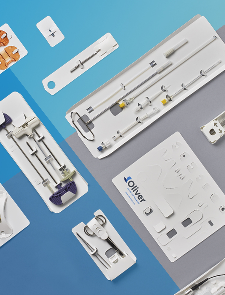 CleanCut Custom-Designed HDPE Cards   Oliver Healthcare Packaging